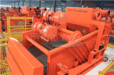Shale Shaker in the top of Tunnel Boring Machine Mud System