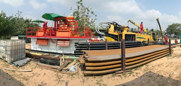 350GPM Mud recovery system on site in Thailand